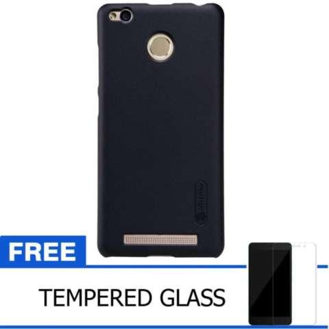 Nillkin Xiaomi Redmi 3 Pro Super Frosted Shield Hard Case Original - Hitam + Gratis Tempered