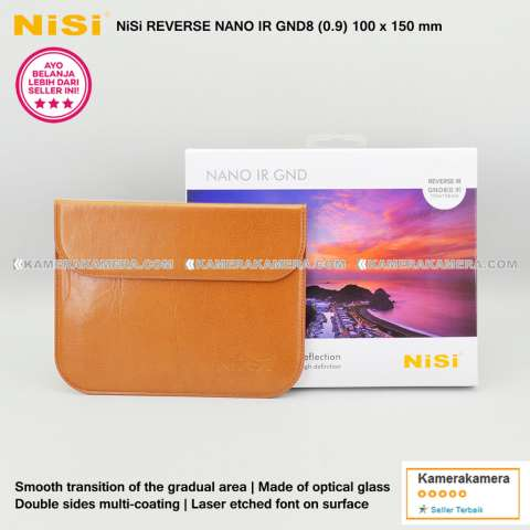 NiSi Square Filter Reverse Nano IR GND8 (0.9) 100x150mm Original for DSLR / Mirrorless Camera Canon Nikon Sony Fujifilm Panasonic 1