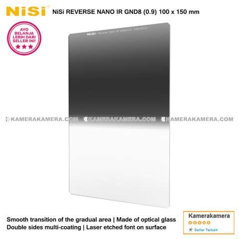 NiSi Square Filter Reverse Nano IR GND8 (0.9) 100x150mm Original for DSLR / Mirrorless Camera Canon Nikon Sony Fujifilm Panasonic 2