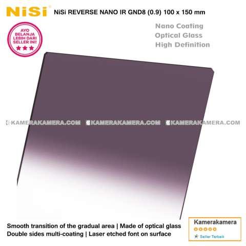 NiSi Square Filter Reverse Nano IR GND8 (0.9) 100x150mm Original for DSLR / Mirrorless Camera Canon Nikon Sony Fujifilm Panasonic 3