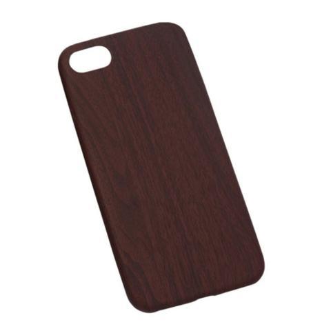 Home Nonvoful Untuk IPhone 7 Case Unik Alami Buatan Tangan Tidak Tergelincir Lembut Wood Biji Bijian Terdiri Dari Permukaan Pu Dan Ultra Ringan TPU Di