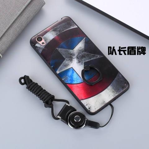 Oposisi oppoa37/a37/a37m set ponsel dari silikon yang lembut dengan cincin shell telepon