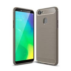 OPPO A79 Brushed Texture Carbon Fiber Shockproof TPU Rugged Armor Protective Case (Grey) - intl