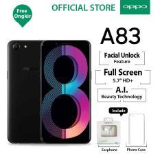 Oppo A83 3/32GB Black – Smartphone Face Unlock (Garansi Resmi Oppo Indonesia, Cicilan Tanpa Kredit, Gratis Ongkir)