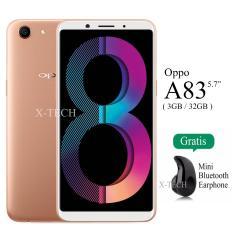Oppo A83 - Ram 3GB - Rom 32GB - 4G/LTE - Garansi Resmi - White Gold