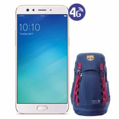 OPPO F3 Plus [64GB/4GB] Free Tas Barcelona - Gold