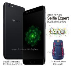 Oppo F3 Plus - Selfie Expert - 64GB - Layar 6 inch - Black Edition