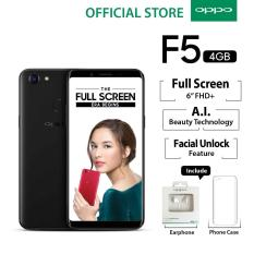 "Oppo F5 4GB/32GB Black – Smartphone Full Screen 6"" FHD+ (Garansi Resmi Oppo Indonesia, Cicilan Tanpa Kartu Kredit, Gratis Ongkir)"