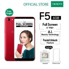 """Oppo F5 6GB/64GB Red – Smartphone Full Screen 6"""" FHD+ (Garansi Resmi Oppo Indonesia, Cicilan Tanpa Kartu Kredit, Gratis Ongkir)"""