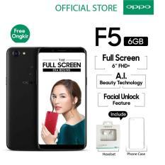 "Oppo F5 6GB/64GB Black – Smartphone Full Screen 6"" FHD+ (Garansi Resmi Oppo Indonesia, Cicilan Tanpa Kartu Kredit, Gratis Ongkir)"