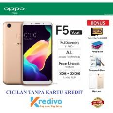 Oppo F5 Youth Ram 3GB/32GB - Cicilan Tanpa Kartu Kredit - Bonus 4 Items