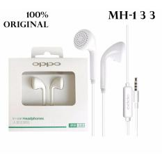 Oppo Handsfree Headset Earphone F1 For Oppo F1 Original / F1 Plus , Stereo Super Bass Original - Putih/White