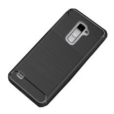 Original Lazada Case Ipaky Shockproof Carbon Hybrid For LG K10 2017 - Hitam