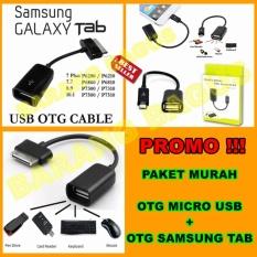 OTG Kabel Samsung Galaxy Tab & OTG Kabel Micro Usb - High Quality [ Promo Hemat 2pcs ]
