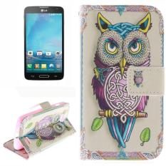 Owl Pattern Leather Case with Holder & Card Slot & Wallet for LG L90 / D405