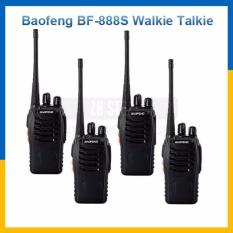 [PAKET 4 UNIT] Radio HT Handy Talky / Walkie talkie Baofeng BF 888s + Headset
