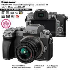 Panasonic DMC-G7K Silver - Kamera Mirrorless G7 WiFi 4K 16MP + Lumix G Vario 14-42mm/ F3.5-5.6 II ASPH (Garansi Resmi Panasonic 1th)