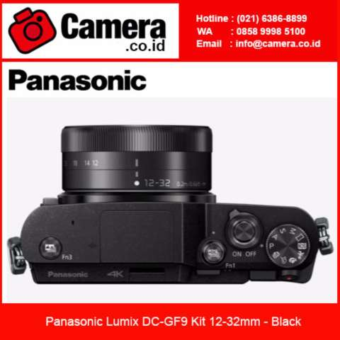 Panasonic Lumix DMC-GF9 Kit 12-32mm - Black Kamera Mirrorless 4