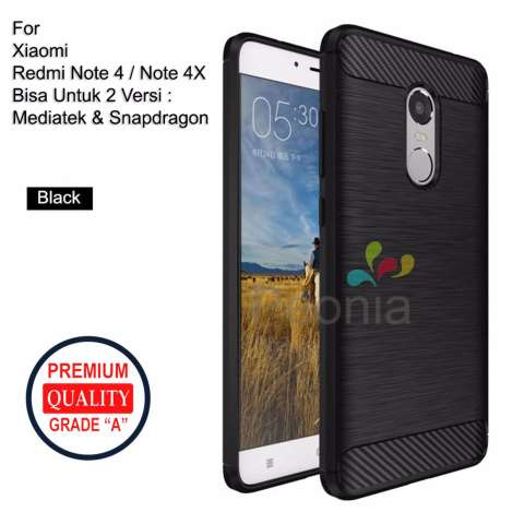 Peonia Carbon Shockproof Hybrid Premium Quality Grade A Case for Xiaomi Redmi Note 4 snapdragon /