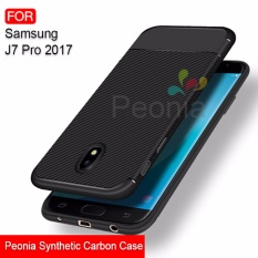 Peonia Synthetic Fiber Carbon Ultraslim Hybrid Case for Samsung Galaxy J7 PRO 2017 ( J730 )