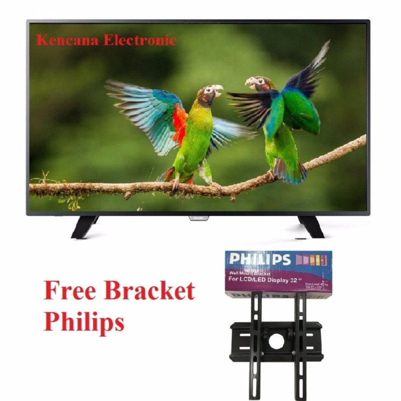"Philips 32PHT4002S DIGITAL TV DVB-T2 LED TV 32"" Slim - NEW - FREE BRACKET PHILIPS - Khusus JABODETABEK"