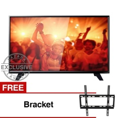 Philips 39 inch LED HD TV - Hitam (Model 39PHA4251S/70) Free Bracket