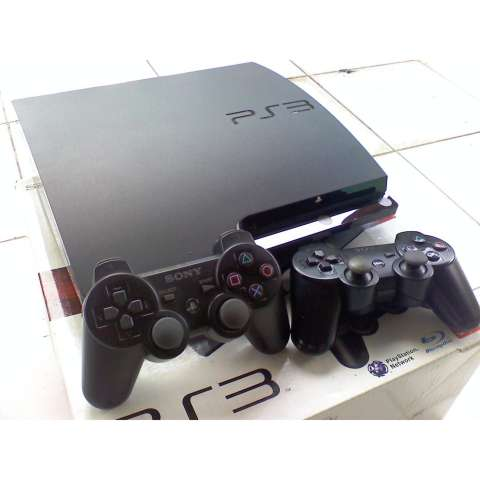 PS3 Slim 500gb FullGame CFW/PS 3 Slim/Playstation 3 Slim + 2 Stik/Stick