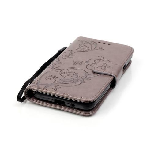 Pola Dompet Slot Kartu Ini Kupu-kupu PU Kulit untuk Menutupi Case Samsung Galaxy S2
