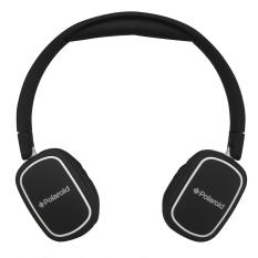 Polaroid headphone on ear fit with light weight, soft ear pad & fold flat for easy storage handsfree headset PRH003-WH