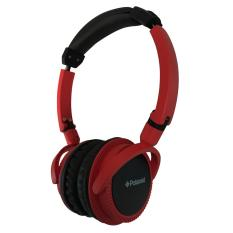 Polaroid headphone on ear fit with soft ear pad & foldable for easy storage handsfree headset PRH096-RD