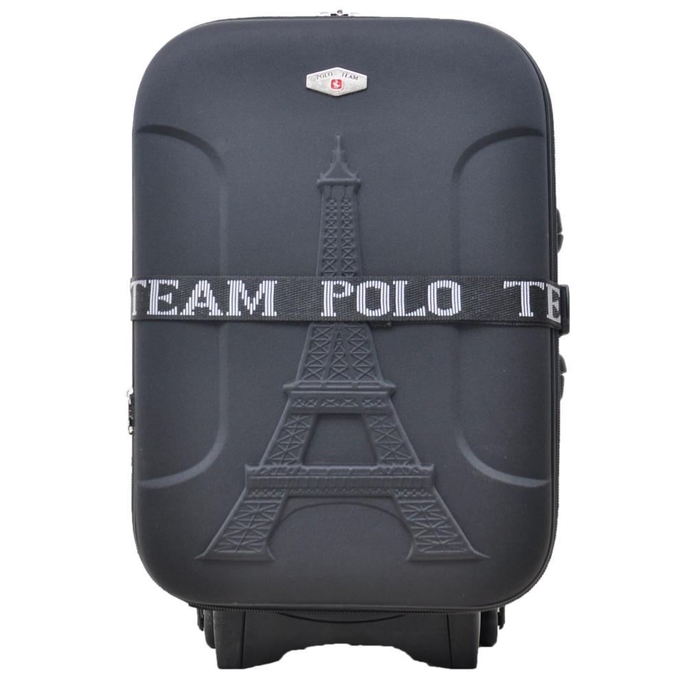 Polo Team Tas Koper Kabin Expander 2 Roda size 20 inch Gratis Pengiriman JABODETABEK - 936 - Hitam