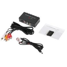 Portable AV Intelligent Switcher 2 untuk 1 Channel RCA Audio Video Switcher dengan Tombol Kontrol Dukungan Auto/Manual Control untuk DVD Kamera Mobil DVR Monitor-Intl