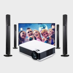 Portable mini Proyektor Video HDMI AV USB Home Theater Proyektor HD 1080 P-Intl