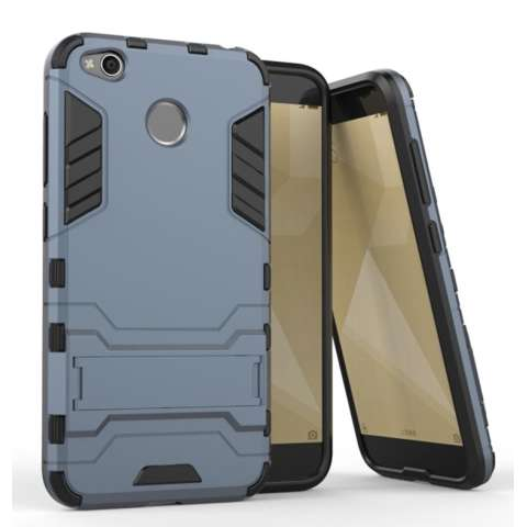 ProCase Kickstand Hybrid Armor Iron Man PC+TPU Back Cover Case for Xiaomi Redmi 4X