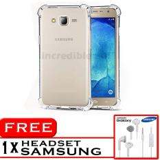 PROMO  Case Anti Shock / Anti Crack Elegant Softcase  for Samsung Galaxy J2 2015 (J200) - White Clear + Free Headset Samsung