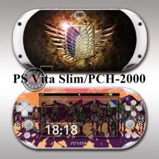 Protective Vinyl Sticker Skin Decal Cover for PlayStation Vita 2000/PS Vita Slim/PCH-2000 Attack on Titan - intl