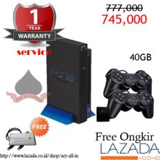 Ps2 fat 40GB + 2stick + Memory card (Garansi 1 tahun)