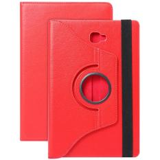 Pu Leather 360 Degree Rotating Back Case Holder Protective Cover For Samsung Galaxy Tab A / A6 10.1 / P580 / P585(Red)