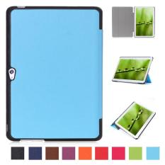 Pu Leather Multi-Folding Stand Case Protective Smart Sleep Cover For Huawei Mediapad M2 A01L / A01M / A01W 10 Inch(Azure) - intl