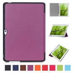 PU Kulit Multi-Folding Stand Case Pelindung Smart Sleep Cover untuk Huawei MediaPad M2 A01L/a01m/A01W 10 Inch (ungu) -Intl