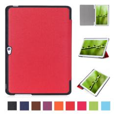 Pu Leather Multi-Folding Stand Case Protective Smart Sleep Cover For Huawei Mediapad M2 A01L / A01M / A01W 10 Inch(Red) - intl