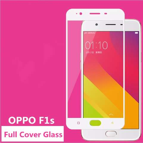 QC Tempered Glass Full White For Oppo F1S Selfie Expert / A59 Anti Gores Kaca /