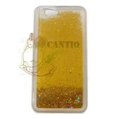 QCF Case Liquid Oppo F1S Selfie Expert Soft Case Aquarium Glitter / Casing Oppo A59 Silikon Case HP - Emas
