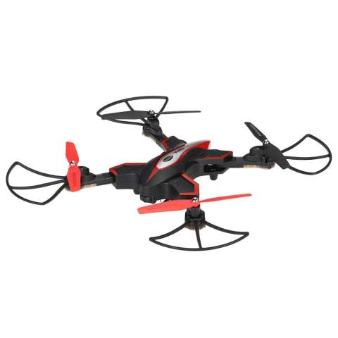 Quadcopter Foldable Syma X56W dengan WiFi Camera Live Video 4CH Headless & Altitude Hold Mode One Key Take off Landing Drone Quadcopter - Hitam 2