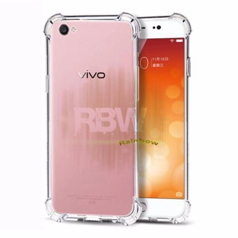 Rainbow Case Anti Crack Vivo Y55 Transparan / Soft Case Anti Shock Y55 / Softshell Shockproof