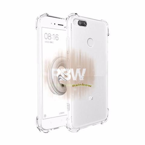 Rainbow Case Anti Crack Xiaomi Mi A1 / Case Anti Shock Mi A1 / Softshell Shockproof / Casing Xiaomi / Silikon Case Mi A1 Xiaomi  Clear