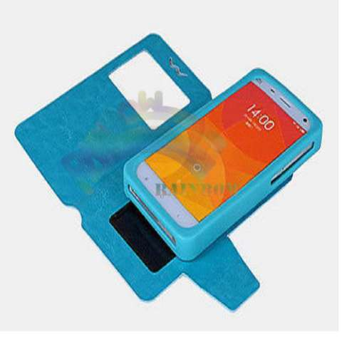 Rainbow Hisense Kingkong 2 Universal Leather Case Windows View F4 With Silicone Case & Kunci Magnet