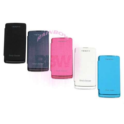 Rainbow Oppo Find Clover R815 Flip Cover / Leather Case / Sarung Handphone / Sarung Case