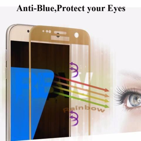 Rainbow Tempered Glass Samsung Galaxy J7 Pro / Temper Glass Full Screen Samsung J7 Pro Coverage