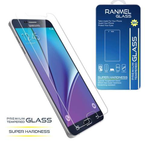 Ranmel Glass Tempered Glass for Samsung Galaxy A8 - Rounded Edge 2.5D - Clear